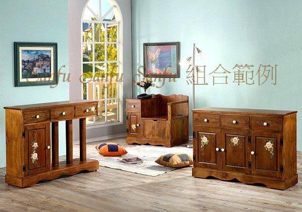 ct10-5~上福家具~.彩绘.全原木.实木.电话座柜.收纳柜.鞋柜.