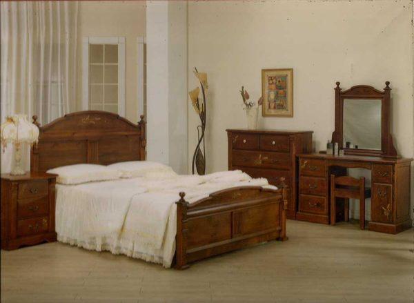 bs28*上福家具* 原木家具 床架 彩绘麦穗 欧式床架 全实木 欧式乡村风