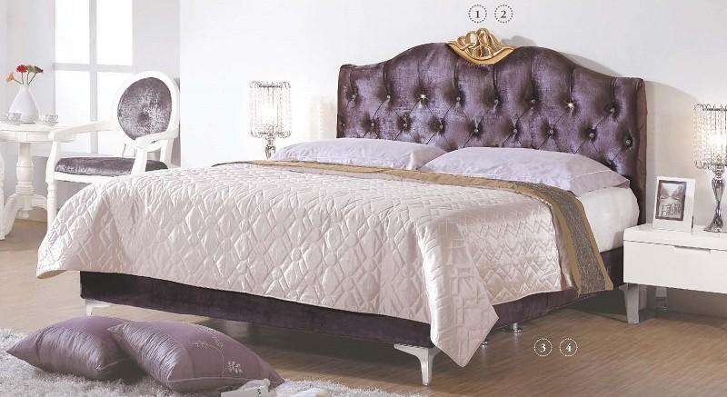 s29~上福家具~欧式双人床.床片.白色.黑色.原木框