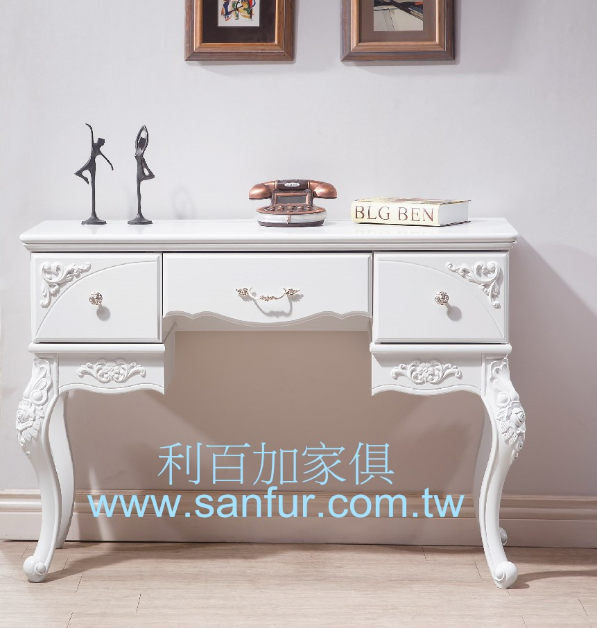 ct-23利百加家具(原上福家俱)~ 欧式白色玄关桌.书桌.