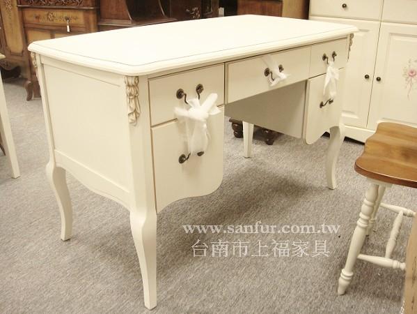 h06-1台南上福家具*维多莉亚* 欧式古典书桌.写字桌.白色.书桌.古典