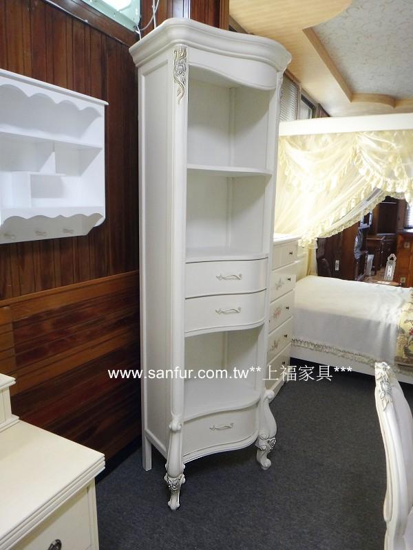 tv002-6上福家具~.欧式古典白色单人椅. 实木展示柜 .艺术雕刻.